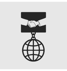 Medal Handshake symbol vector image vector image