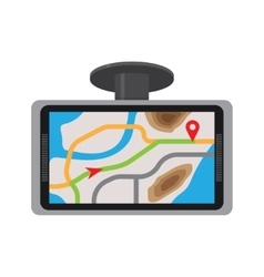 Mobile gps navigation with map vector