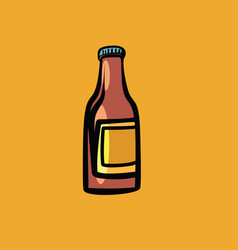 Mockup sauce bottle vector