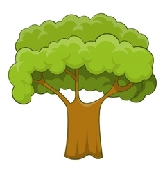 Old tree icon cartoon style vector