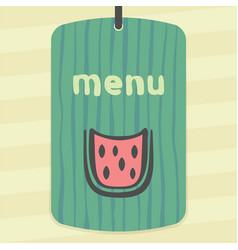Outline watermelon slice fruit icon modern logo vector