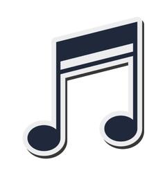 quaver music note icon vector image