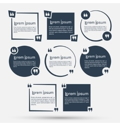 Quotes template set vector