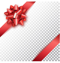 red bow for packing gifts realistic vector image vector image