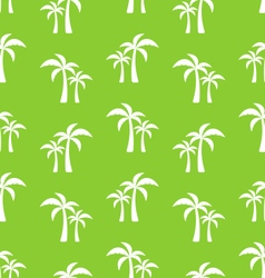 Seamless pattern with tropical palm trees vector