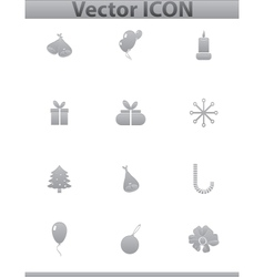 set icons birthday and celebration vector image vector image