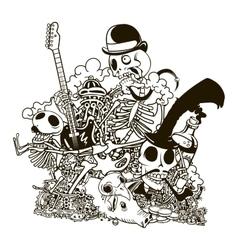 Skull doodle vector