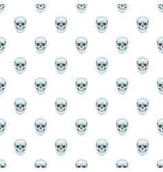 Skull pattern cartoon style vector
