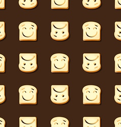Smile and frown sliced bread seamless pattern vector