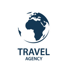 travel earth logo vector image vector image
