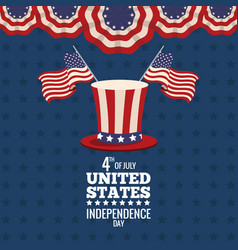united states independence day celebration poster vector image vector image