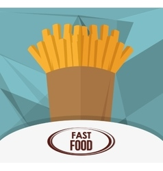 French fries and fast food design vector