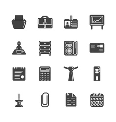 Solid icon set - office workspace vector