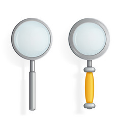 Isolated magnifying glass loupe icon search symbol vector
