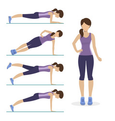 set of plank exercise vector image