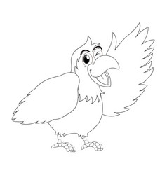 animal outline for parrot bird vector image