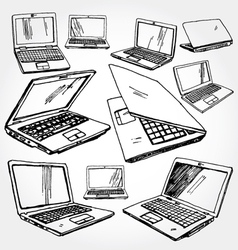 Laptops vector