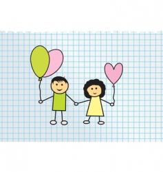 kids illustration vector image