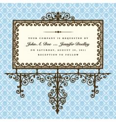 elegant sign vector image