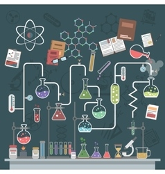 Science Concept Flat vector image
