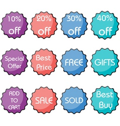 Set of discount icon vector