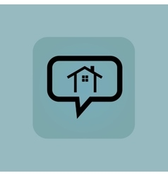 Pale blue cottage message vector
