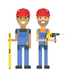 Set of professional engineering workers people vector