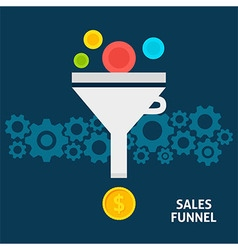 Sales funnel flat concept vector