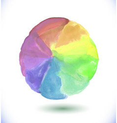abstract watercolor rainbow gradient background vector image vector image