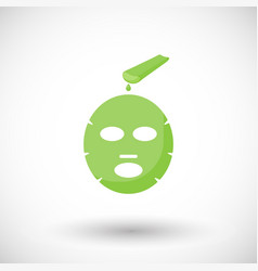 Aloe vera facial mask flat icon vector