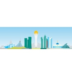 Astana abstract skyline vector image