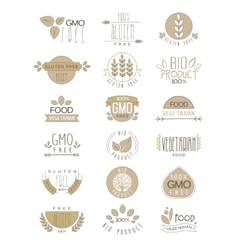 Bio products set of labels vector