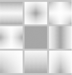 Black and white curved star pattern design set vector