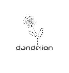 cyber dandelion design template vector image