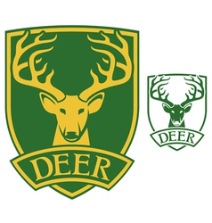 deer head symbol vector image