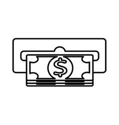 dispensing slot money icon vector image