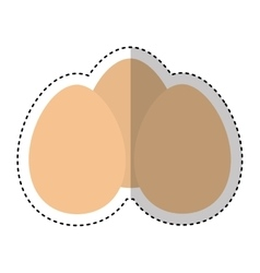 Eggs ingredient isolated icon vector