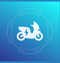 Electric scooter icon pictogram vector