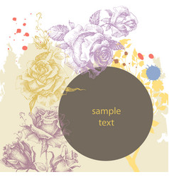 floral advertising leaflet greeting card with vector image vector image
