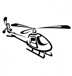 flying helicopter vector image