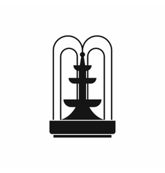 Fountain icon simple style vector