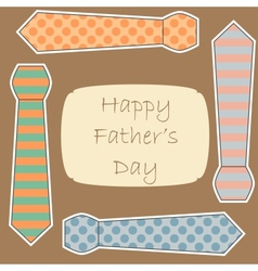 Happy Fathers Day card vector image vector image