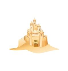 Icon sandcastle vector