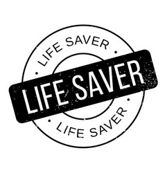 Life saver rubber stamp vector