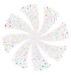 math symbols fireworks swirl flower vector image vector image