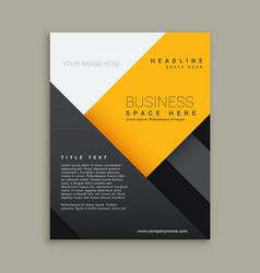 Modern minimal business brochure vector