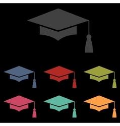 Mortar Board or Graduation vector image vector image