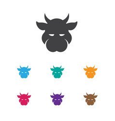 Of zoology symbol on calf icon vector