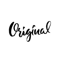 Original hand drawn dry brush lettering ink vector