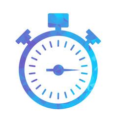 polygon blue icon stopwatch vector image vector image